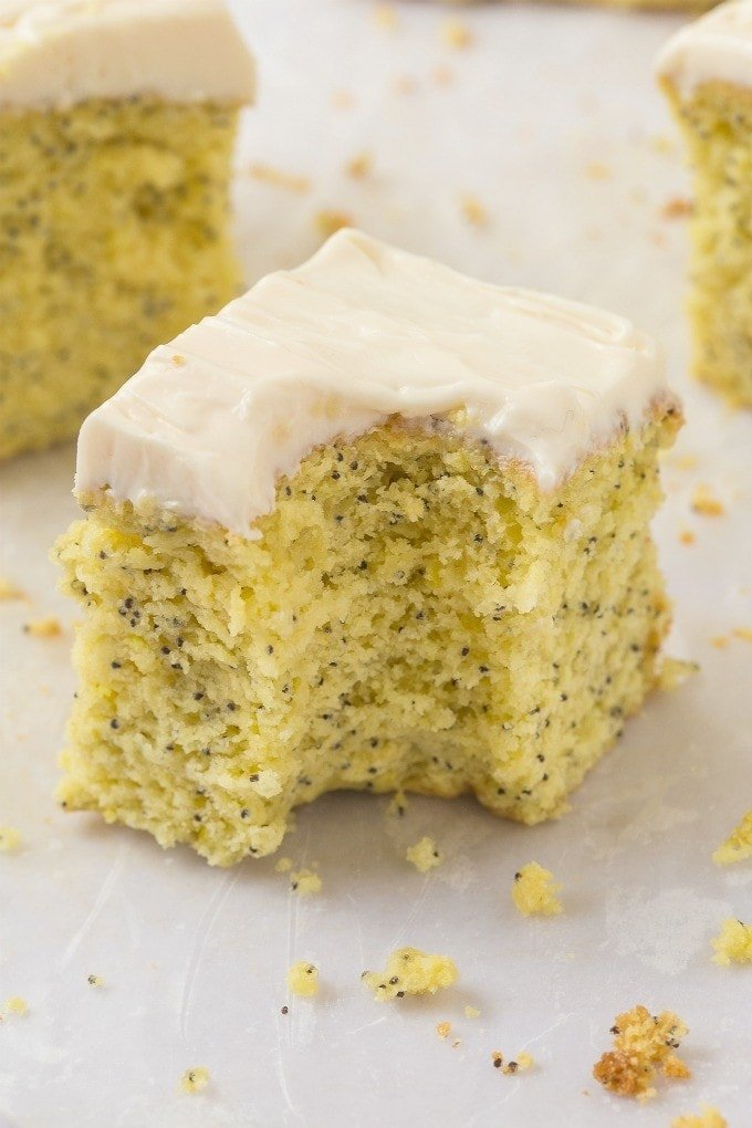 Healthy Flourless Lemon Poppy Seed Breakfast Cake Light And Fluffy On The Inside Tender