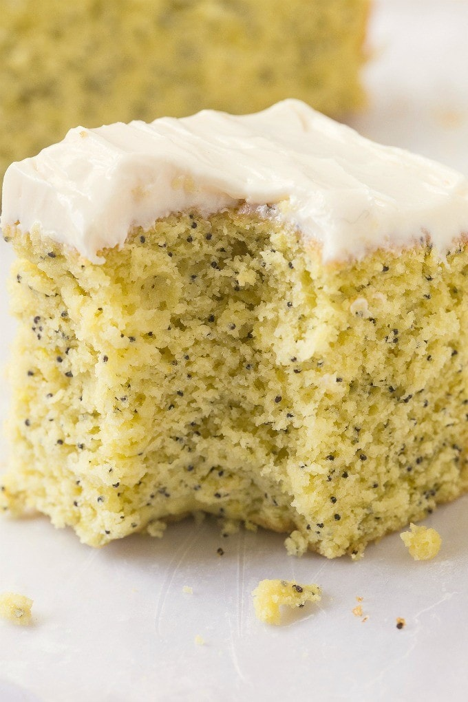 Lemon Poppy Seed Cake Vegan