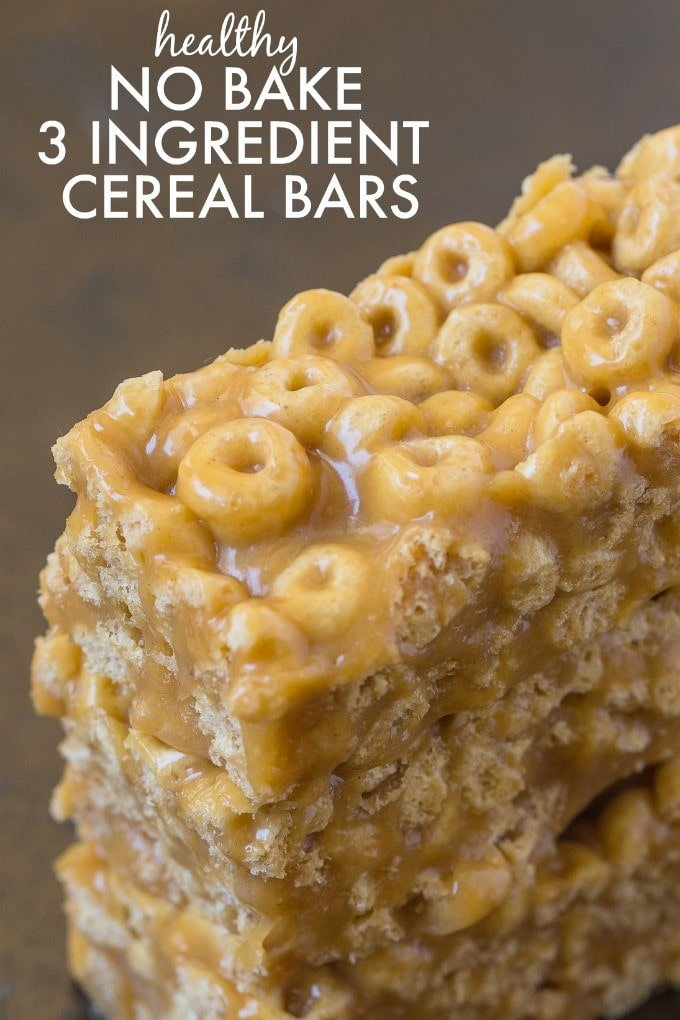 Healthy 3 ingredient no bake cereal bars healthy no bake 3 ingredient cereal bars ready in just five minutes these no ccuart Image collections