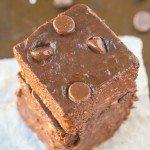 Healthy 2 Ingredient Flourless Brownies