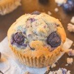 Healthy Flourless Blueberry Breakfast Muffins