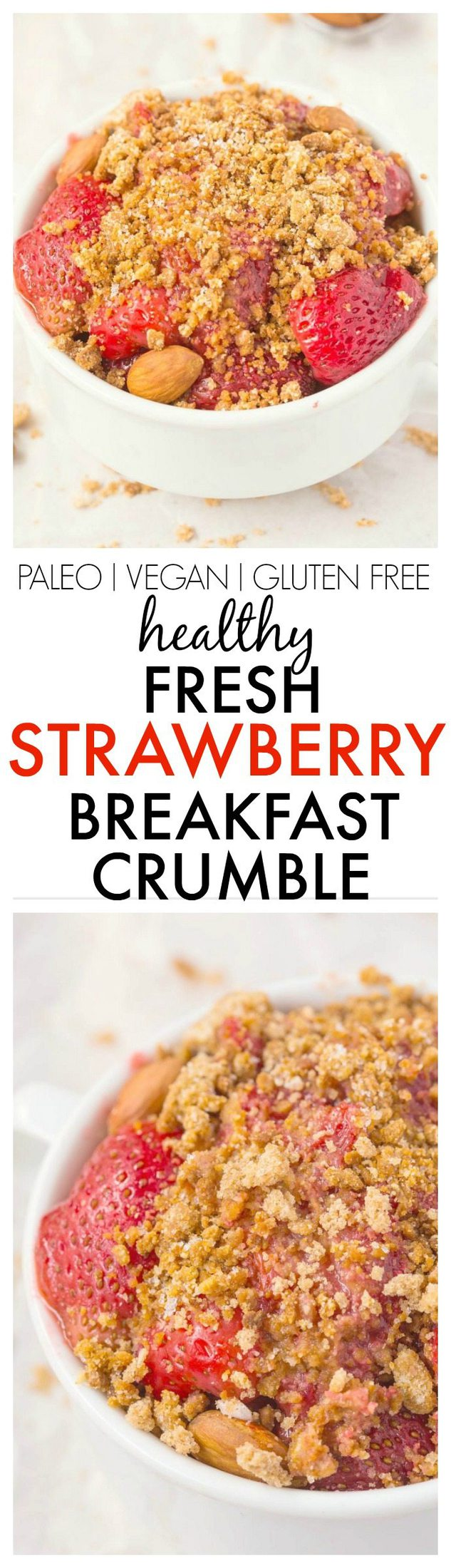 Healthy fresh strawberry breakfast crumble healthy fresh strawberry breakfast crumble which can totally pass as dessert too no butter forumfinder Gallery