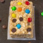 Healthy No Bake Monster Cookie Protein Granola Bars