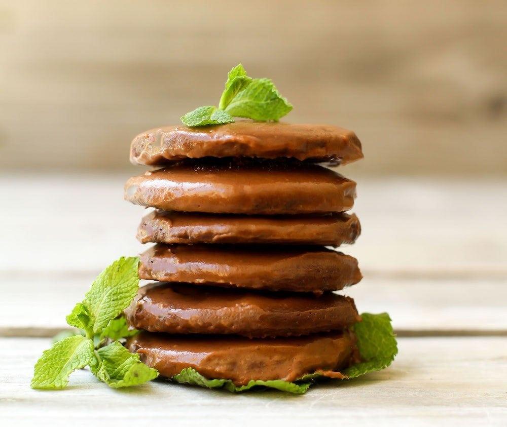 Healthy Thin Mint Cookies {vegan, gluten free}