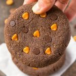 Healthy No Bake Giant Peanut Butter Breakfast Cookies