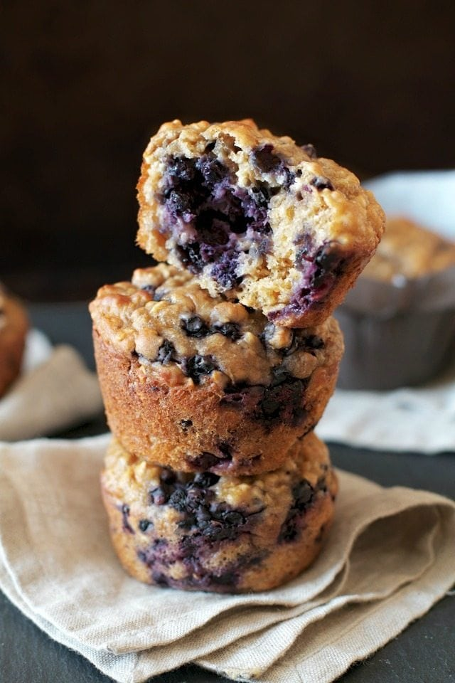 Blueberry Oat Greek Yogurt Muffin