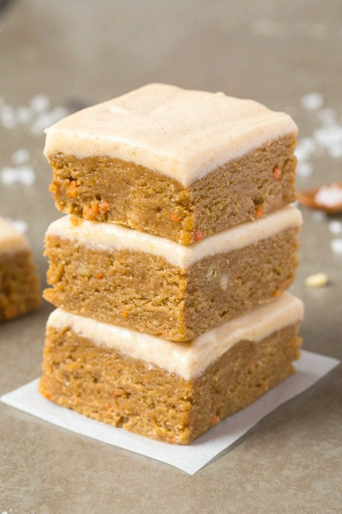Healthy Carrot Cake Squares