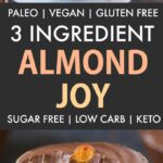 Healthy 3 Ingredient Sugar Free Almond Joy Cups