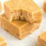 Healthy 3 Ingredient Maple Pecan Fudge