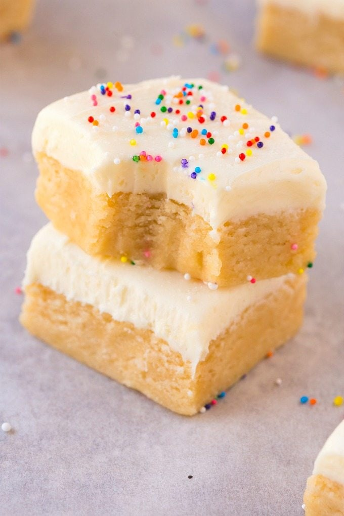 No Bake Sugar Cookie Bars