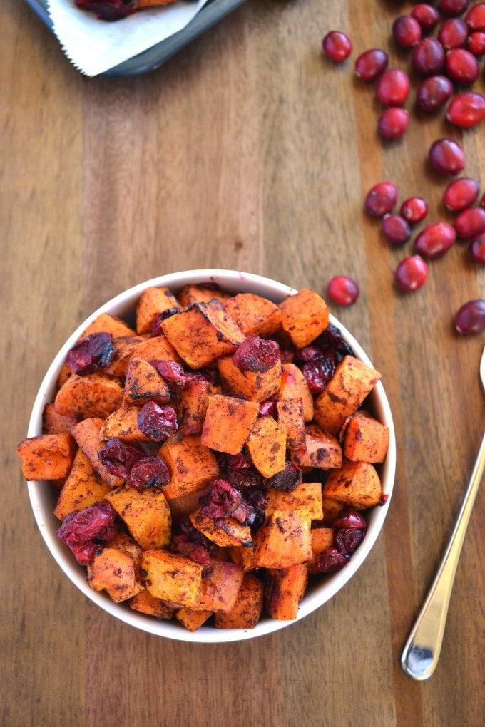 Crispy Potatoes Cranberries