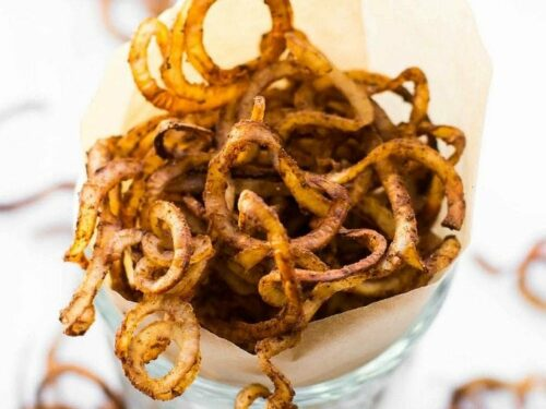 Healthy Oil Free Baked Curly Fries The Big Man S World