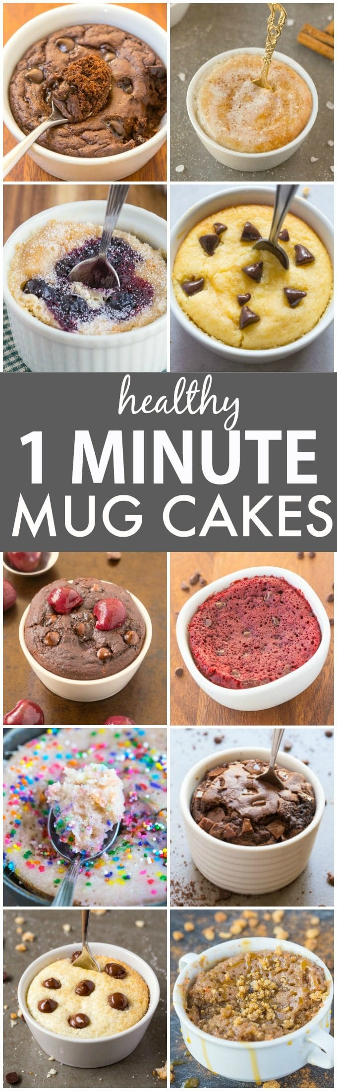 Clean Eating Healthy 1 Minute Mug Cakes, Brownies and Muffins (V, GF, Paleo)- Delicious, single-serve desserts and snacks which take less than a minute! Low carb, sugar free and more with OVEN options too! vegan, gluten free, paleo recipe- thebigmansworld.com
