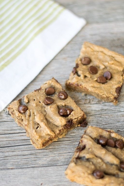 Gluten Free Chocolate Chip Blondies