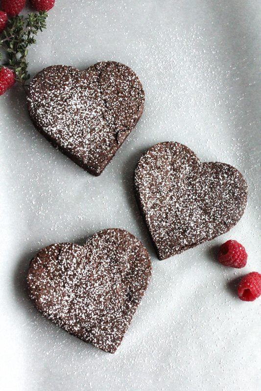 Flourless Heart Chocolate Cake