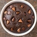 Healthy 4 Ingredient Flourless Chocolate Mug Cake (Paleo, Vegan, Gluten Free)
