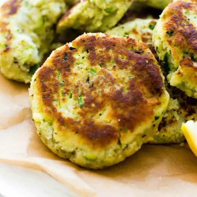 Paleo Vegan Zucchini Cauliflower Fritters Keto Veggie Burgers The Big Man S World