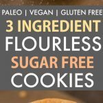 3 Ingredient Sugar Free Flourless Cookies (Paleo, Vegan, Gluten Free)