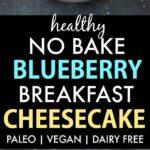 Healthy Blueberry Breakfast Cheesecake (Paleo, Vegan, Gluten Free)