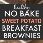 No Bake Sweet Potato Breakfast Brownies (Paleo, Vegan, Gluten Free)