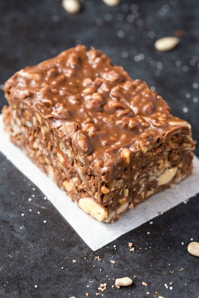 no bake paleo nut bars