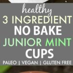 Healthy 3 Ingredient No Bake Junior Mint Cups (Paleo, Vegan, Gluten Free)