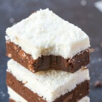 Chocolate coconut no bake brownies