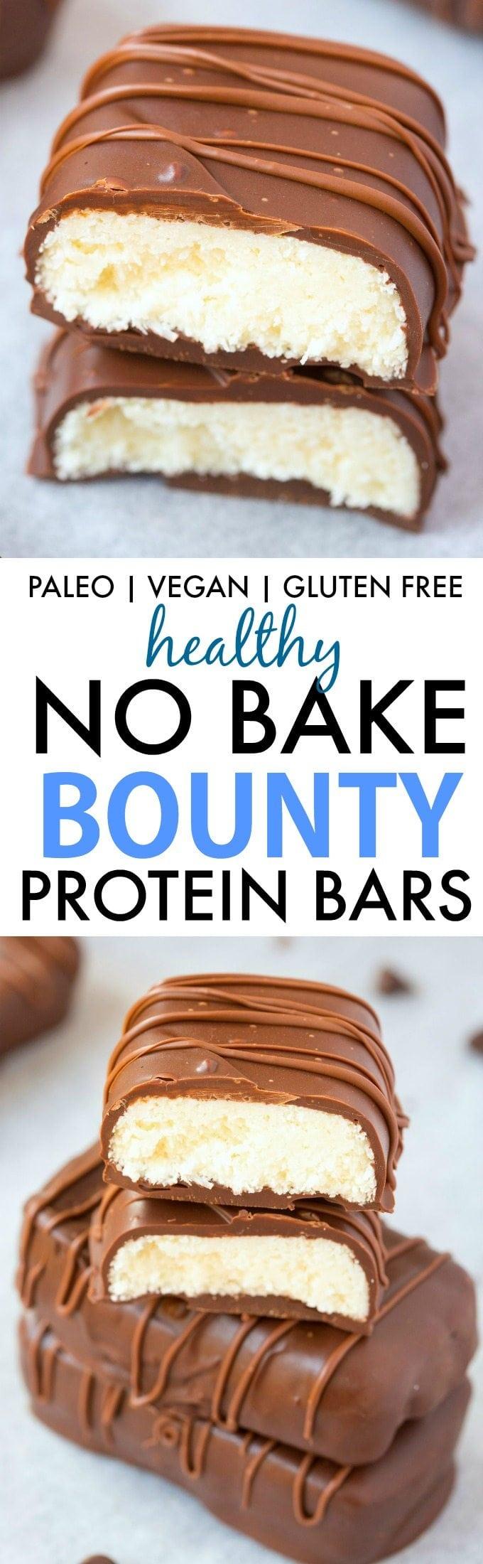 Homemade No Bake Bounty Protein Bars (Paleo, Vegan, Gluten ...