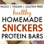 Healthy Homemade Snickers Protein Bars (Paleo, Vegan, Gluten Free)
