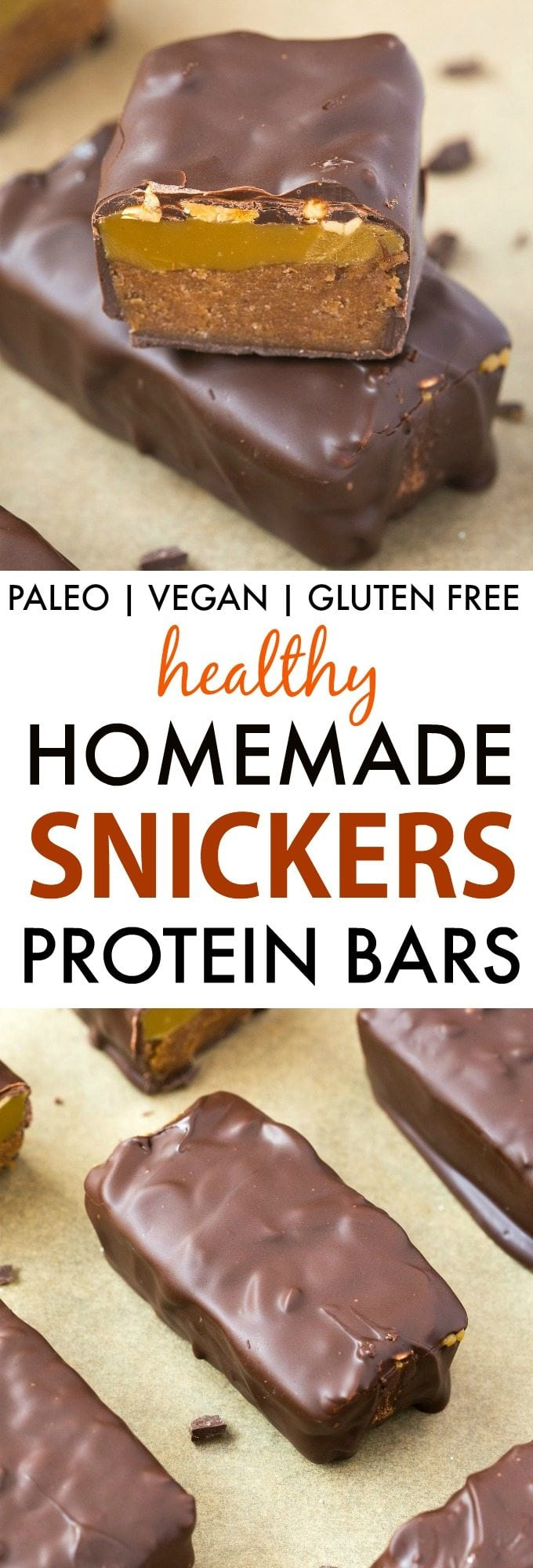 Healthy Homemade Snickers Protein Bars (Paleo, Vegan ...