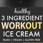 Healthy No Churn Workout Protein Ice Cream (Paleo, Vegan, Gluten Free)