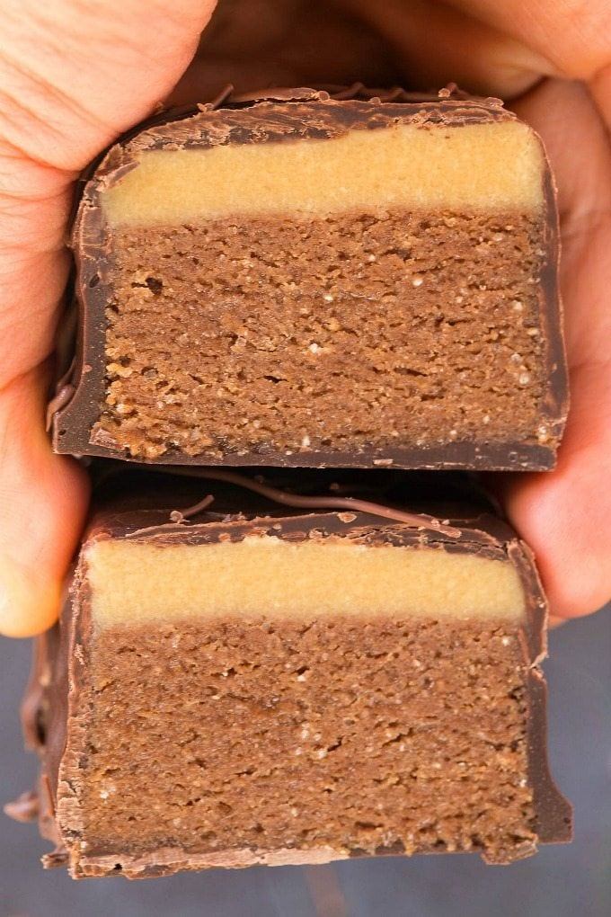 Healthy Homemade Mars Bars recipe that is a candy bar copycat