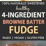 Healthy Brownie Batter Fudge (Paleo, Vegan, Naturally Sweetened)