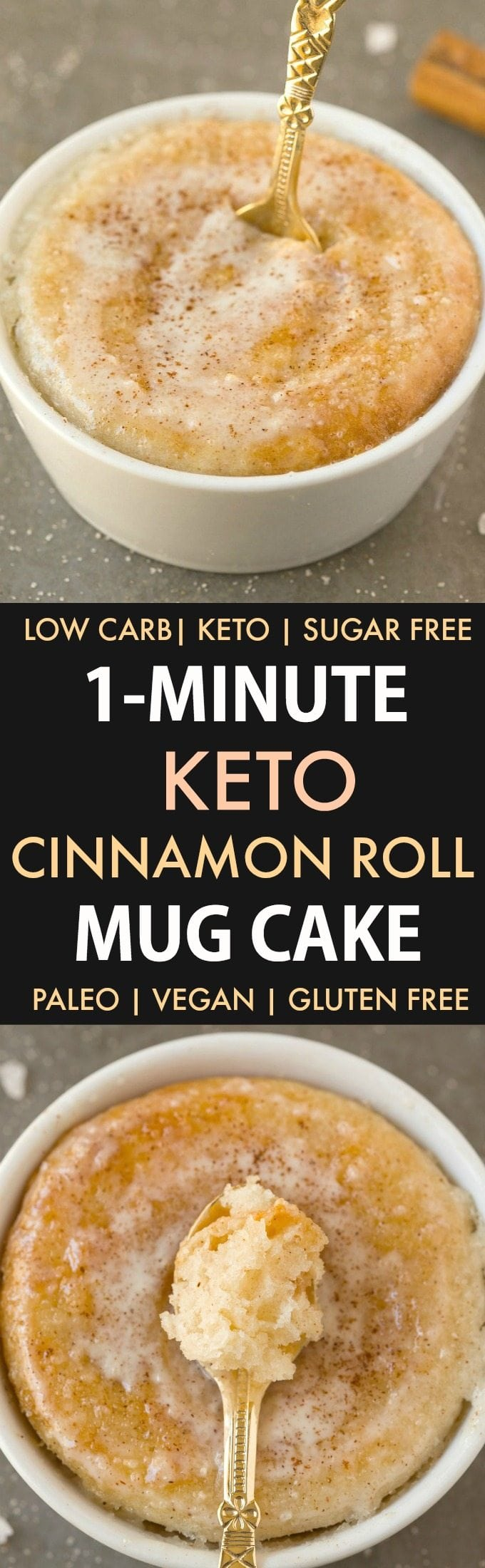 Healthy 1 Minute Low Carb Keto Mug Cakes (Paleo, Vegan ...