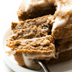 Fluffy Low Carb Keto Cinnamon Roll Pancakes (Paleo, Vegan)