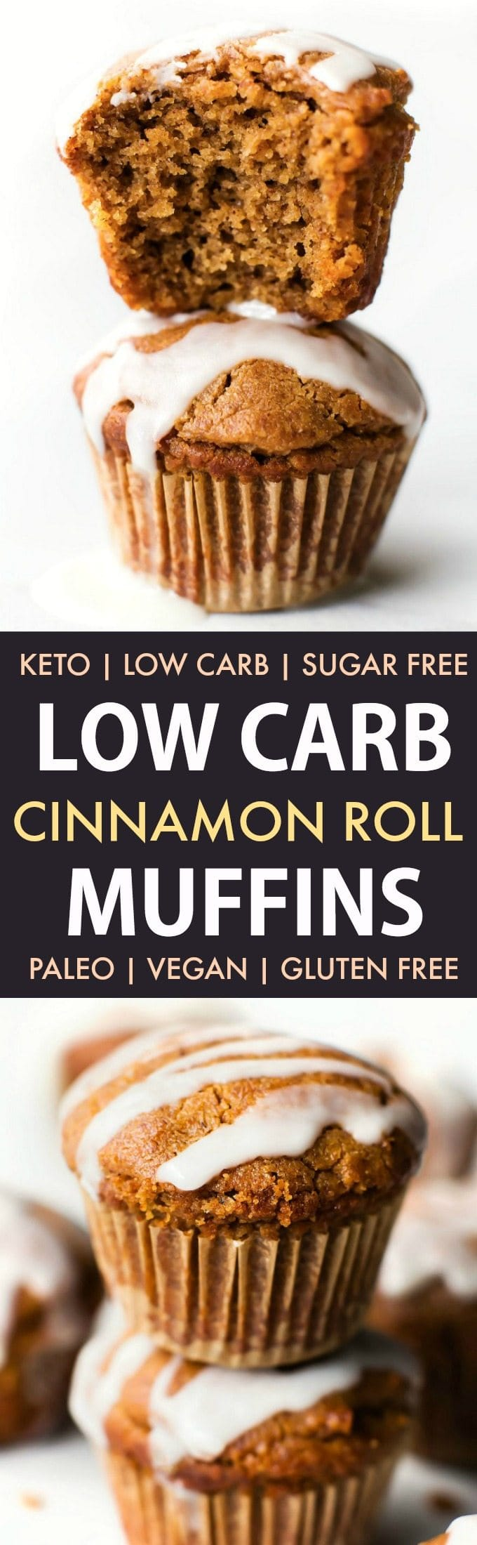 Low Carb Keto Cinnamon Roll Muffins