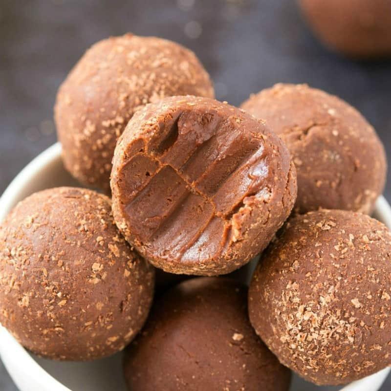 keto dessert recipes no bake No Bake Brownie Bites 2 Ingredients!