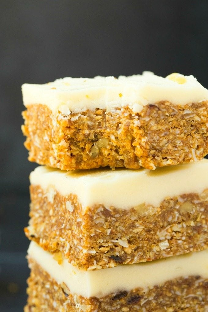 Healthy Paleo Vegan No Bake Carrot Cake Keto Sugar Free
