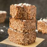 Paleo Vegan Chocolate Coconut Crunch Bars (Keto, Low Carb)
