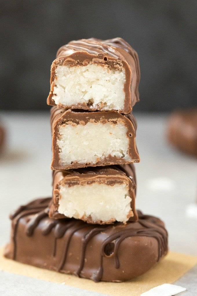 Homemade No Bake Coconut Bounty Bars