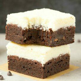 Healthy Vegan Coconut Brownies