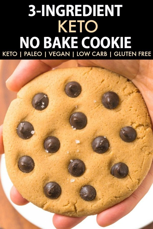 3-Ingredient Keto Peanut Butter No Bake Cookies