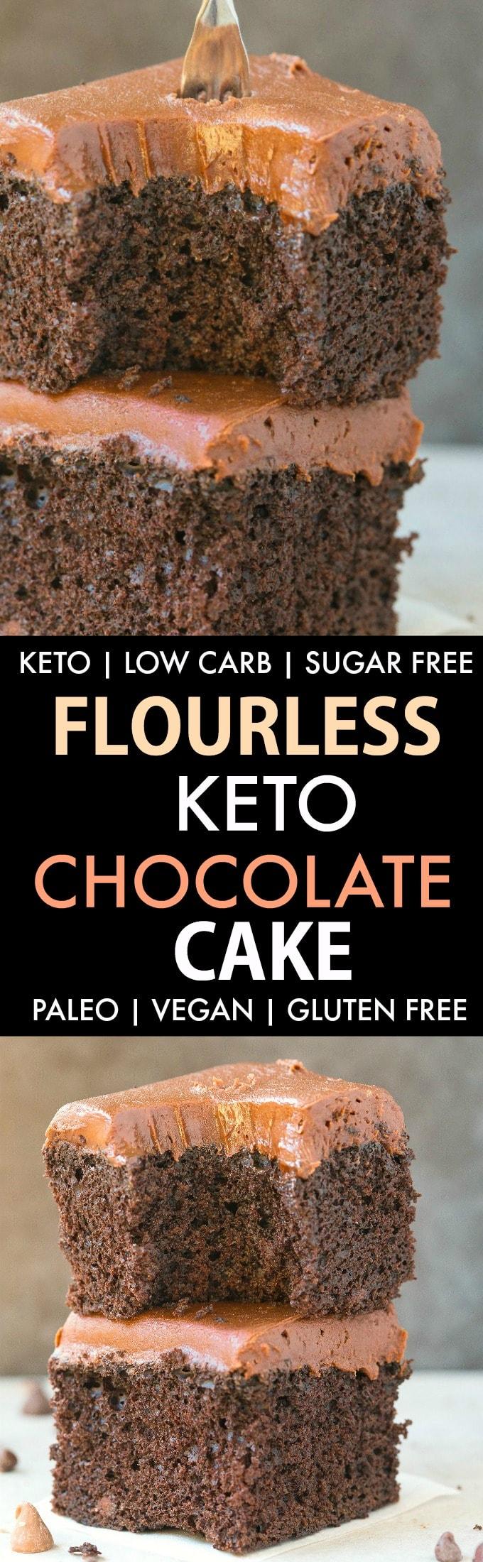Flourless Paleo Vegan Chocolate Cake (Keto, Low Carb)