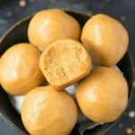 3 Ingredient No Bake Keto Peanut Butter Balls (Paleo, Vegan, Low Carb)