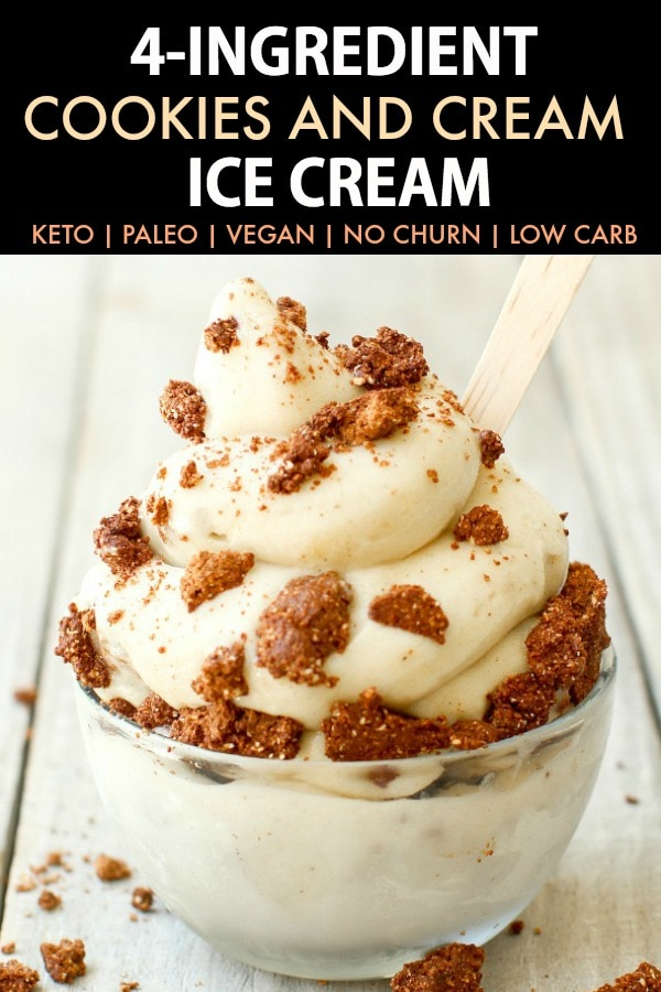 No Churn Keto Cookies and Cream Ice Cream
