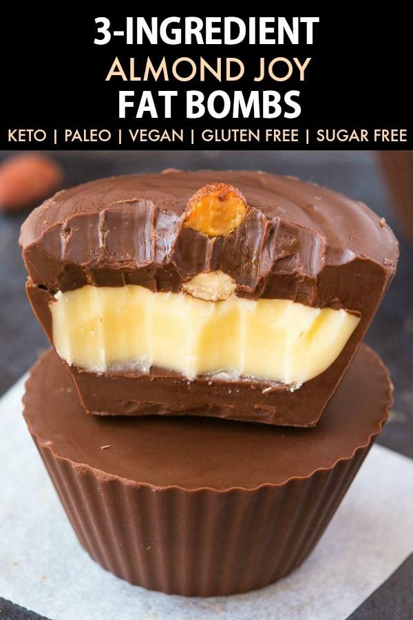 3-Ingredient Almond Joy Fat Bombs