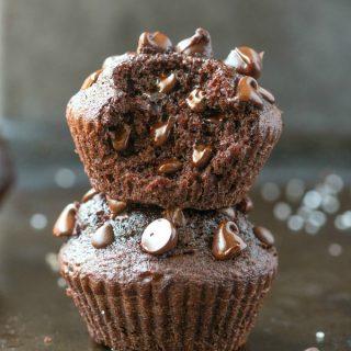 Flourless Gluten Free Vegan Chocolate Muffins (Nut-Free, Keto, Paleo)