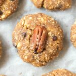 No Bake Keto Low Carb Pecan Pie Cookies (Paleo, Vegan)