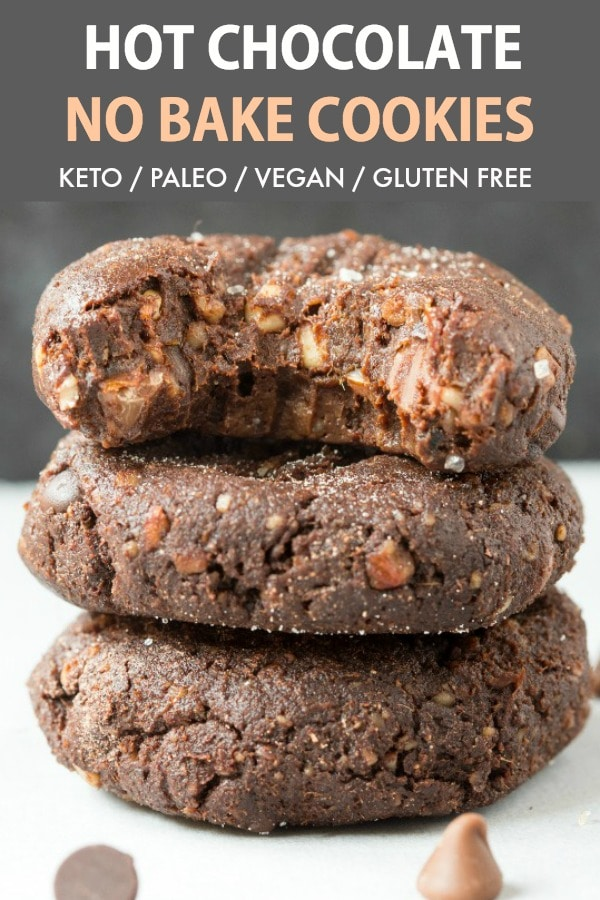 These Soft And Chewy Hot Chocolate No Bake Cookies Are The Best Keto And Vegan Christmas