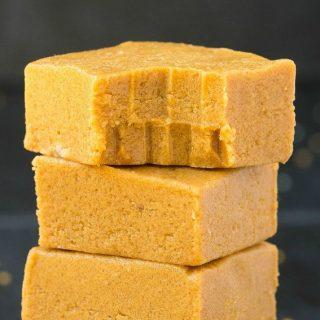 3 Ingredient No Bake Keto Peanut Butter Bars (Paleo, Vegan, Low Carb)